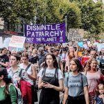 Women march in Melbourne